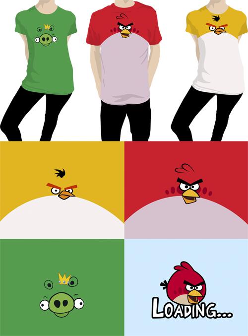Angry Birds Tşört Tasarımları