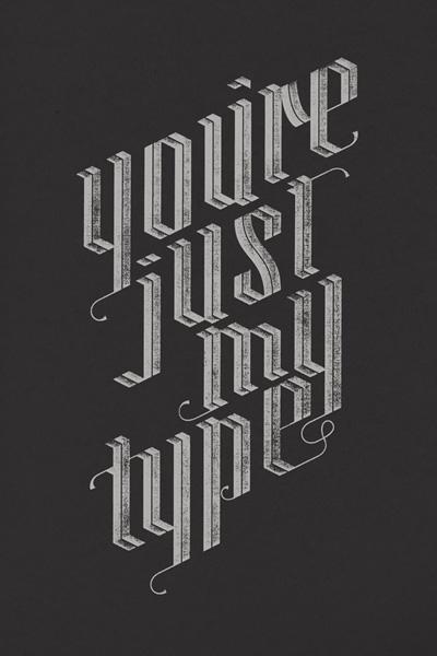 Tipografi örnekleri ve kreatif tasarımlar