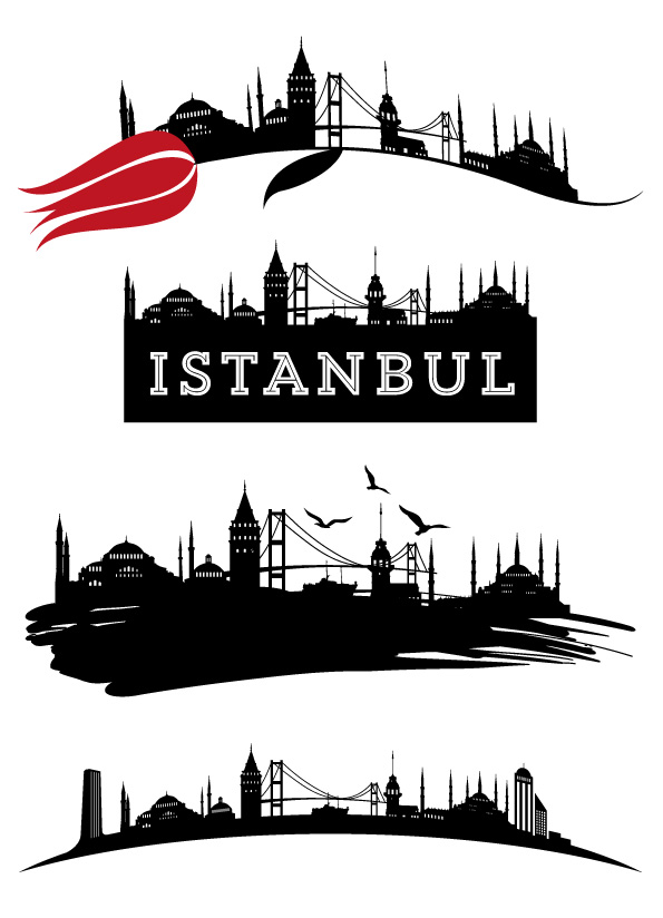 vektorel-istanbul-silueti