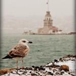 Kışın Kız Kulesi