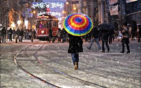 Kışın Taksim