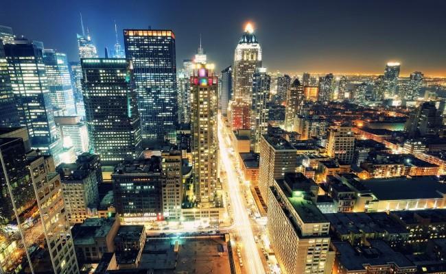 New-York-Night-Light-Streets-United-States