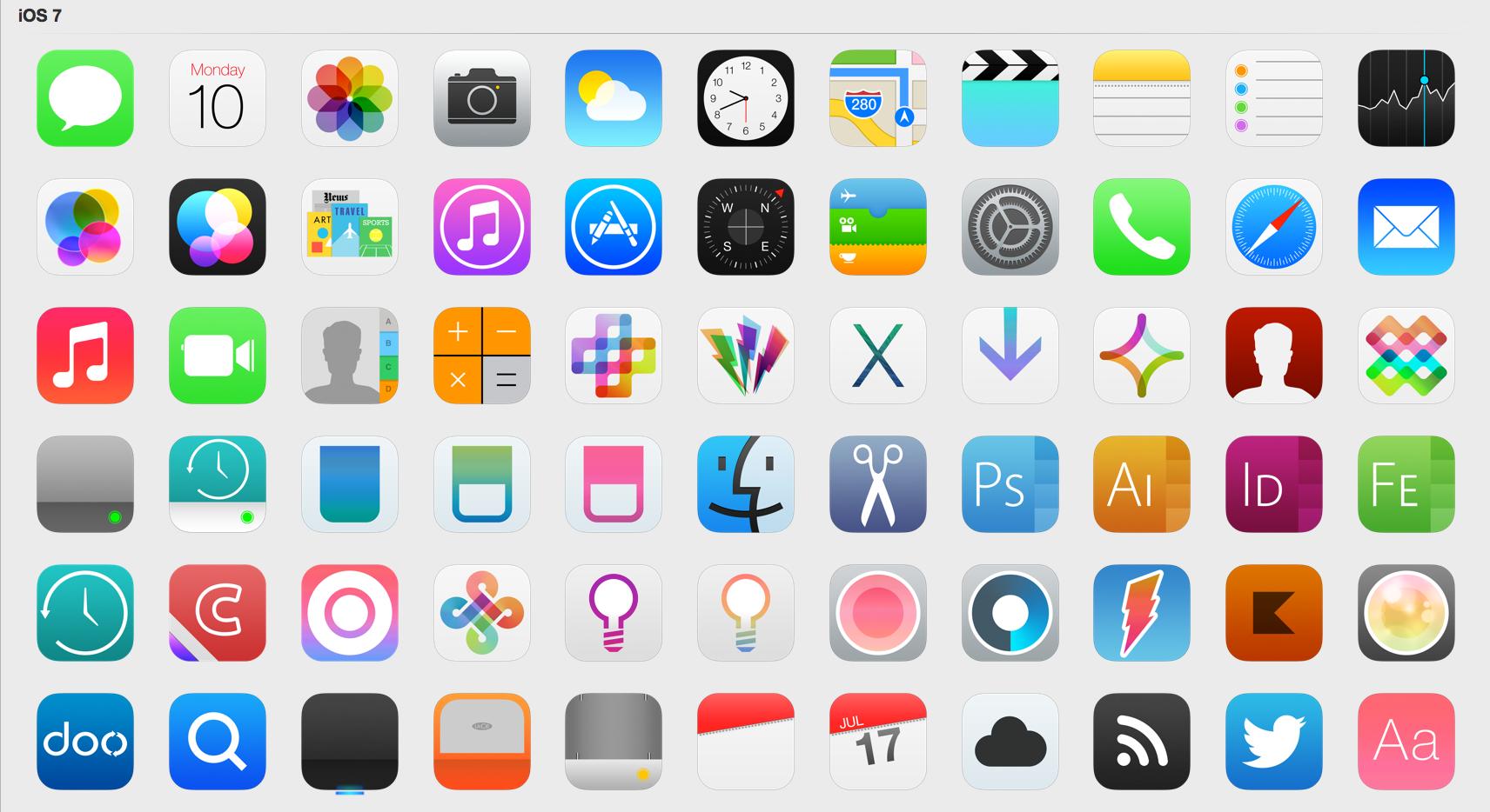 ios 7 ikonlar
