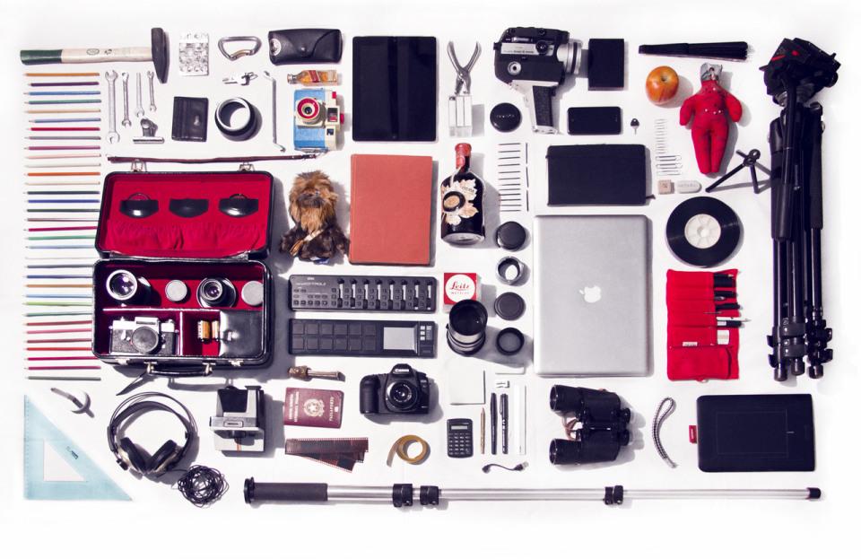 knolling-fotograf-canta-icindekiler