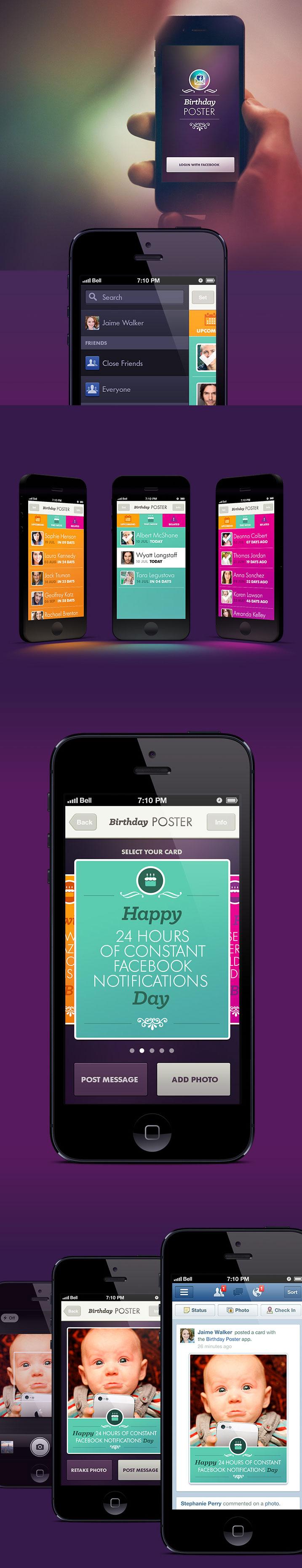 Facebook-poster-uygulamasi-mobil-tasarimi