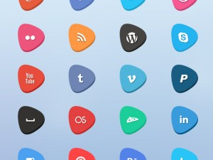 pane-gorunumlu-sosyal-medya-ikonlari