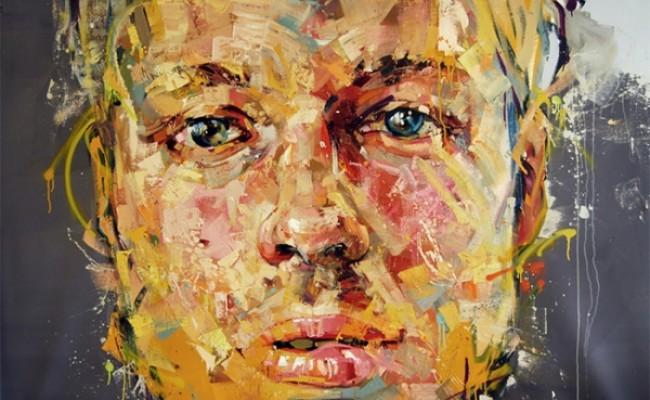 Ustaca çalışılmış Portre Resimleri Genç Grafiker