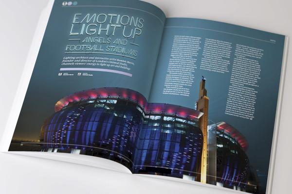 Kreatif dergi sayfası yerleşimi