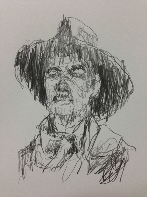 Karalama Portre çizimleri Genç Grafiker