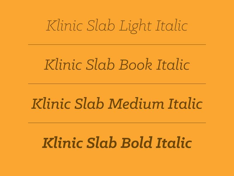 klinic-font-onizleme