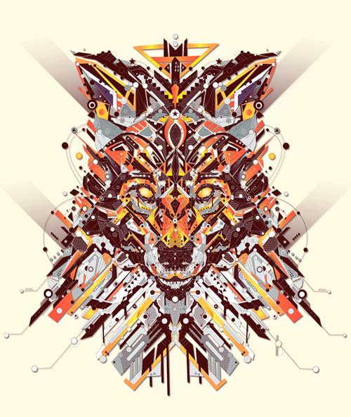 sekiller-ile-karakter-fox-art-shapes