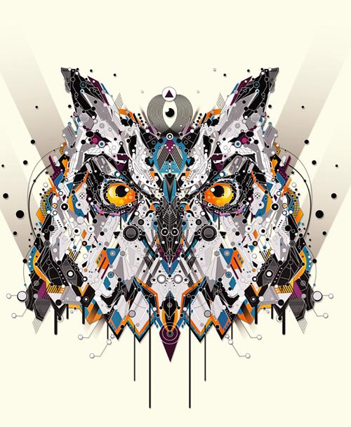 sekiller-ile-karakter-owl-shapes-art