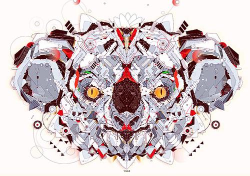 sekiller-ile-karakter-tarsier-geometric-art