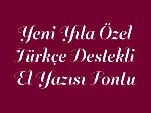 Yeni yıla özel türkçe el yazısı fontu
