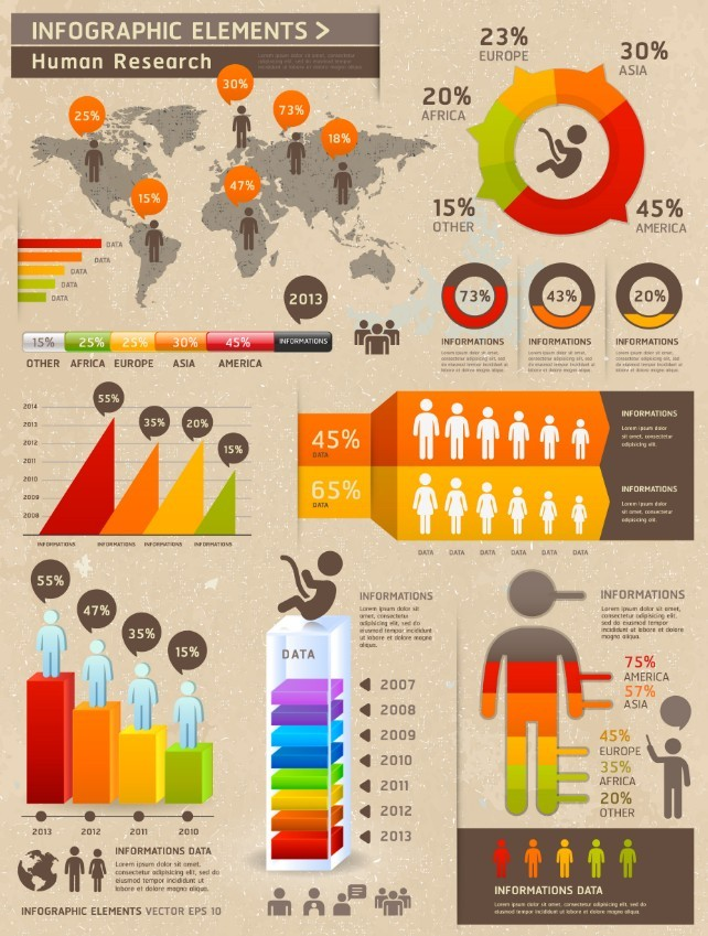 insan-temali-infografik-elementleri