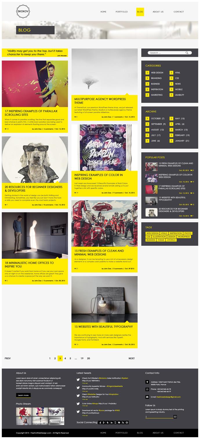 ucretsiz-site-tasarimi-psd-blog