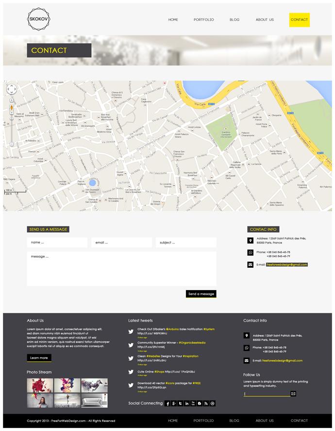 ucretsiz-site-tasarimi-psd-iletisim