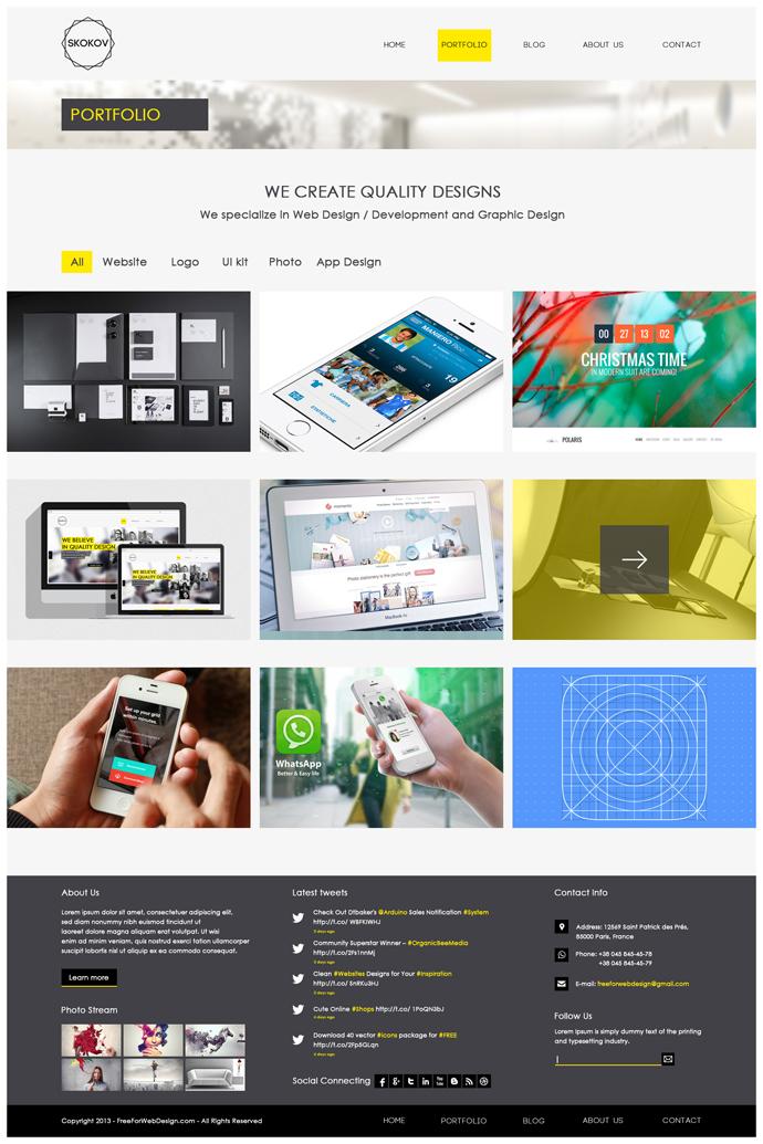 ucretsiz-site-tasarimi-psd-portfolyo