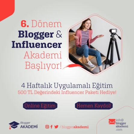 Blogger ve Influencer Olmak İçin: Blogger Akademi